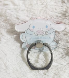 NEW Cinnamoroll Hello Kitty Silver Ring Phone Hold